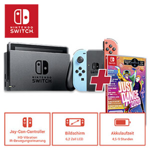 Nintendo Switch inkl. Spiel JUST DANCE 2020