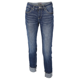Damen Jeans in Skinny Form mit Leoprint
