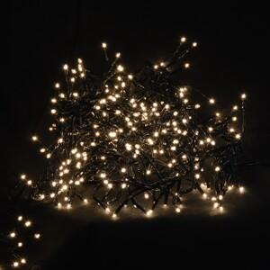 Cluster Lichterkette warmweiß Klarglaslampen innen/außen