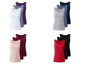 ESMARA® Lingerie Unterhemd Damen, 3 Stück, hoher Baumwollanteil, mit Elasthan