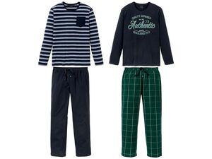 LIVERGY® Herren Pyjama, mit Bindeband und Taschen, aus reiner Baumwolle