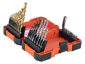 Black & Decker 27 tlg. Bit- und TIN- Bohrer-Set