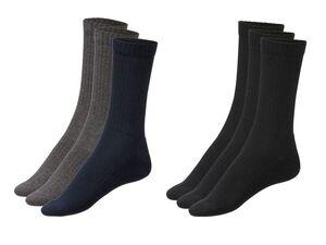 LIVERGY® Socken Herren, 3 Paar, Basic, hoher Baumwollanteil