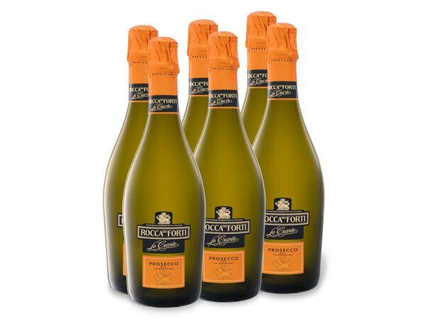 6 x 0,75-l-Flasche Rocca dei Forti Rocca dei forti le Cuvée Prosecco DOC brut, Schaumwein
