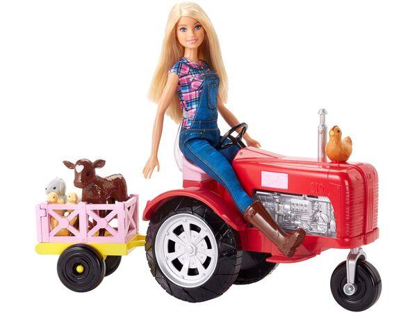 Barbie Bäuerin Puppe und Traktor Spielset