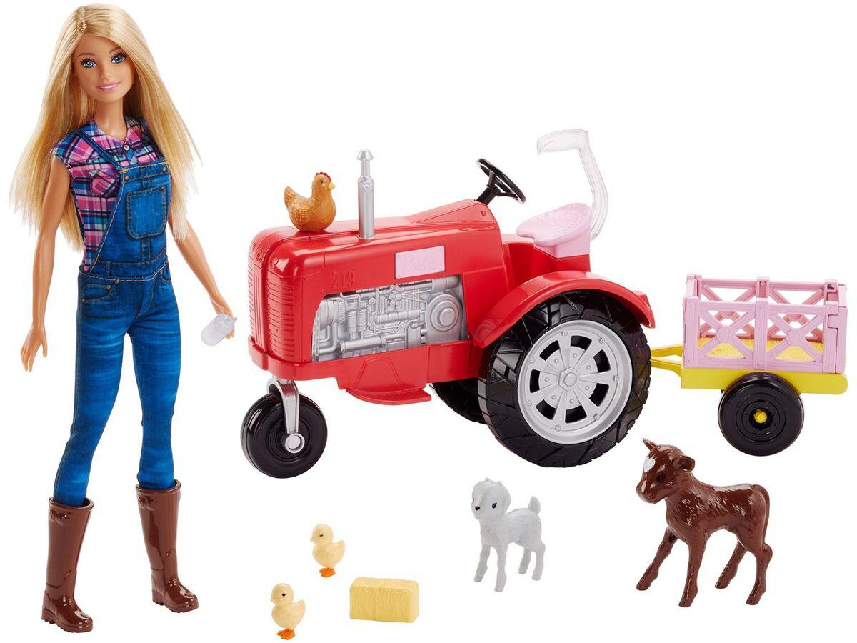 Bild 2 von Barbie Bäuerin Puppe und Traktor Spielset