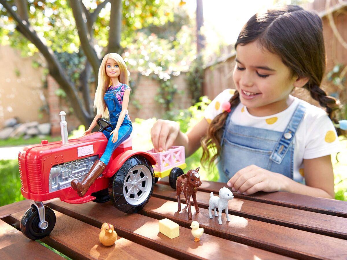 Bild 3 von Barbie Bäuerin Puppe und Traktor Spielset