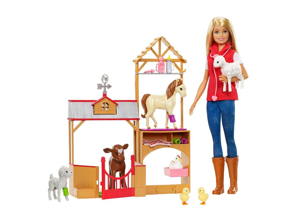 """Bild 1 von Barbie """"Spaß auf dem Bauernhof"""" Puppe und Spielset"""