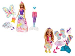 Barbie Dreamtopia Regenbogen-Königreich Set 3-in-1 Fantasie Barbie + 3-in-1 Fantasie Chelsea