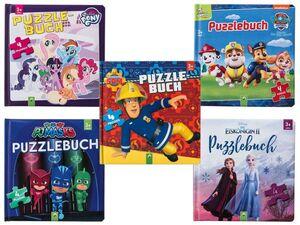 Puzzlebuch Kinder, ab 3 Jahren, mit Griffhilfe, 4 stabile Puzzle mit je 12 Teilen