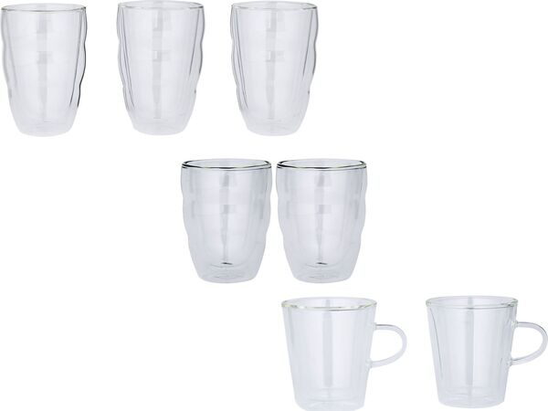BODUM Thermoglas 0,35L Latte Macchiato 2er/ Thermoglas 0,25L / Cappuccino 3er/ Thermoglas 0,3L / Tee 2er