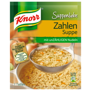 Knorr Suppenliebe Zahlensuppe 750ml