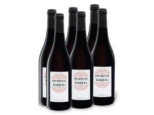 6 x 0,75-l-Flasche Barbera Piemonte DOC trocken, Rotwein