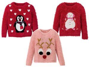 LUPILU® Kleinkinder Mädchen Weihnachtspullover