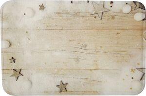 Dekor Badvorleger mit weihnachtlichen Motiven, ca. 40 x 60 cm - Sterne
