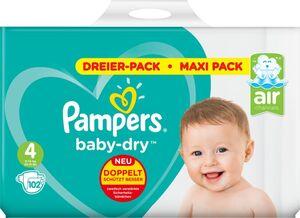 Pampers Windeln Dreier Pack Gr. 4 Maxi 102 ST