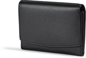 Spirit of Colours Damen Ledergeldbörse mit RFID Ausleseschutzfolie - Ziegennappaleder, ca. 13,5 x 9,5 cm - schwarz