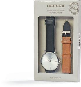 Reflex Herren Armbanduhr mit Wechselarmband - schwarz/hellbraun