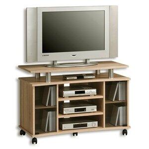 TV-Rack - Sonoma Eiche - Alu - Glastüren