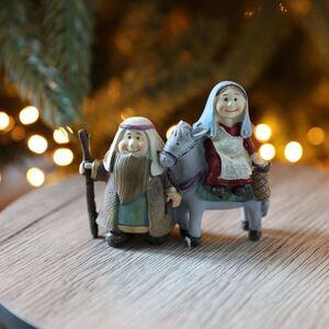 Krippenfiguren Maria, Josef & Esel