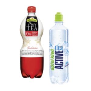 Adelholzener Active O2 oder Pfanner Pure Tea
