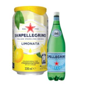 S. Pellegrino Mineralwasser oder Limonaden