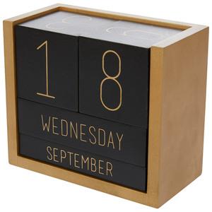 Würfel-Kalender (schwarz-gold)