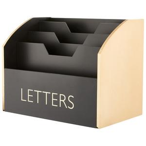 Briefbox (schwarz-gold)