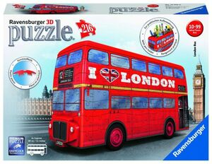 3D Puzzle - London Bus - 216 Teile