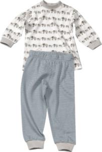 ALANA Kinder Schlafanzug, Gr. 92, in Bio-Baumwolle, weiß, grau, für Mädchen und Jungen
