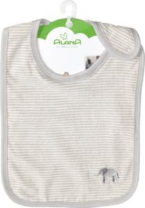 ALANA Baby Lätzchen, in Bio-Baumwolle, weiß, grau, für Mädchen und Jungen