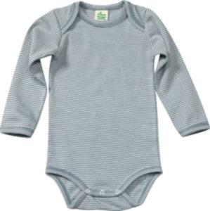 ALANA Baby Body, Gr. 62/68, in Bio-Baumwolle, blau, weiß, für Mädchen und Jungen