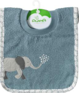 ALANA Baby Lätzchen, in Bio-Baumwolle, blau, Elefant, für Mädchen und Jungen