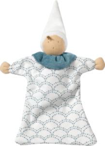 ALANA Baby Puppe, in Bio-Baumwolle, weiß, blau, für Mädchen und Jungen