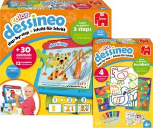 Bundle Dessineo Color Staffelei + Malen nach Zahlen Bauernhof