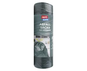 opti home 25 Abfall-Säcke mit Zugband, 60 l