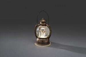 Konstsmide LED Kugellaterne Schneemannfamilie ,  20 x Ø 12 cm