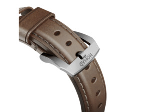 NOMAD Nomad Strap Traditional Leather Brown Connector Silver 42mm Ersatzarmband braun / silber