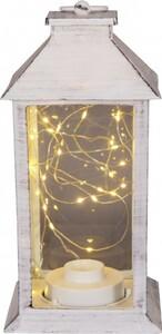 TrendLine LED Laterne mit Lichterkette ,  weiß