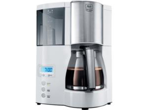 MELITTA 100801 Optima Timer Kaffeemaschine mit Glaskanne in Weiß