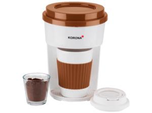 KORONA 12202 Kaffeemaschine mit Becher in Braun/Weiß