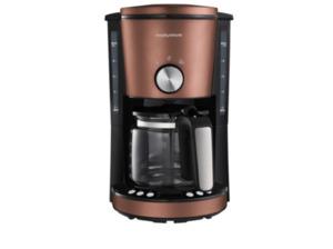 MORPHY RICHARDS Evoke Special Edition Kaffeemaschine mit Glaskanne aus hitzebeständigem Glas in Bronze