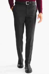 Businesshose mit Gürtel - Tailored Fit - Woll-Mix