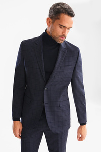Baukasten-Wollsakko - Tailored Fit - kariert