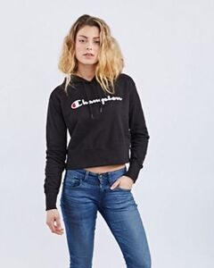 Champion Cropped Over The Head - Damen Hoodies