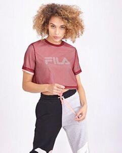 Fila Alberta Mesh Crop - Damen T-Shirts