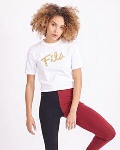Fila Frankie Script Crop - Damen T-Shirts