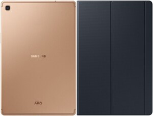 Galaxy Tab S5e (64GB) WiFi Tablet gold inkl. Book Cover (schwarz)