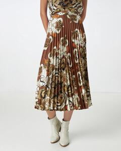Hallhuber Plisseerock mit Tuchdruck für Damen in multicolor