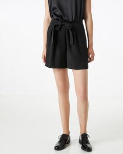 Hallhuber Taillenshorts mit Schleife für Damen in schwarz